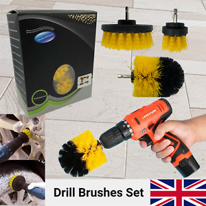 Drill Brush Set Cleaning Power Scrubber Attachment Car Tile Grout Cleaner Tool