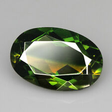 8.75Ct Man Made Bi Color Glass Yellow Green Oval Cut MQYG60