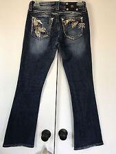 Miss Me Bootcut Jeans Sequin Rhinestone 26x30 Stretch