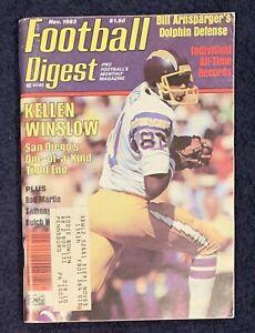 11.1983 KELLEN WINSLOW Football Digest SAN DIEGO CHARGERS - BILL ARNSPARGER