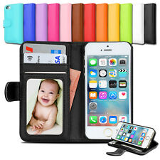 Premium NEW Wallet Leather Case Stand Cover for Apple iPhone 5S 5C | 5 SE