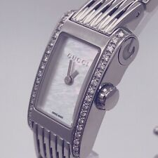 Ladies Gucci 8600L Stainless Steel Watch,  MOP Dial,Diamond Bezel, Box & Papers
