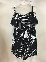 $100 NWT Palm Leaf Swimdress Tummy Control Sz 12 Swimsuits for all 959