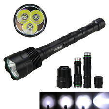 6000Lm Super Bright 3x XML T6 LED 5-Mode 18650 Tactical Flashlight Hunting Torch