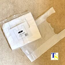 More details for 300 x plastic carrier bags - vest handles - 12x17x20