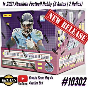 NEW ENGLAND PATRIOTS 2021 ABSOLUTE FOOTBALL BOX BREAK CASE #10302