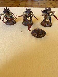 3 guerriers Tyranide peints (tyranid warrior) - Warhammer 40000
