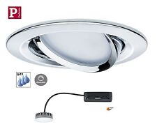 Paulmann EBL LED Coin Slim 1x6,8W Dimmbar Chrom Satin Ip23 Flach 3cm  93879