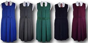 Traditional Girls School Uniform Box Pleat Gymslip - Adult Sizes & Many Colours
