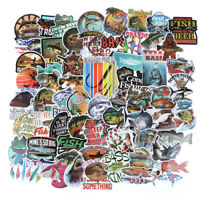 65Pcs Funny Fisherman Go Fishing Sticker Outdoor Suitcase Laptop Gui I2
