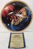 1994 Hamilton Star Trek Voyagers Ferengi Marauder Ship Limited Edition Plate