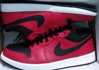 Nike Air Jordan 1 Low Gym Red Black Reverse Bred 553558 605 Men's Size 13