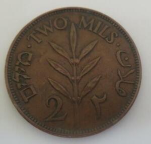 1927 Palestine 2 Mils*Bronze* KM#2 Nice Eye Appeal! A067