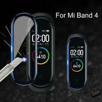 1/5X Tempered Glass 3D Full Cover Screen Protector Film For Xiaomi Mi Band 4 UK