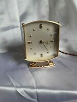 LOVELY VINTAGE BRASS ELECTRIC  CLOCK FULLY WORKING FREE POSTAGE