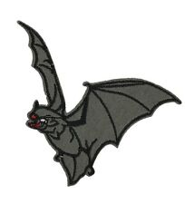 Flying Vampire Bat Embroidered Patch Iron On Applique Gothic Occult Goth Dracula