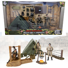 World PeaceKeepers Army Military Campsite Toy Playset Army Figures 3+ Years