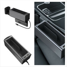 Car Seat Gap Storage Box Crevice Organizer Cup Holder Dual USB Black Universal