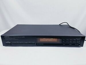 Onkyo T-4000 Home Quartz Synthesized AM/FM Stereo Tuner Tested & Working