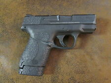 Black Textured Rubber Grip Enhancements for Smith & Wesson SHIELD 9mm & .40 Cal