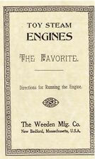 """TOY STEAM ENGINES [BOOKLET] """"The Favorite"""" - New Softcover Copy - USA"""