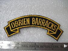 Army Tab Scroll Military Service Time O'BRIEN BARRACKS GERMANY twill German made