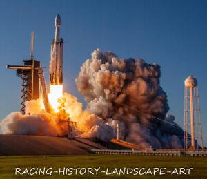 2019 April 11 8x10  Launch Photo SpaceX Falcon Heavy Pad 39A Cape Kennedy Arabsa