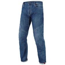 Pantalones azules textiles de denim para motoristas