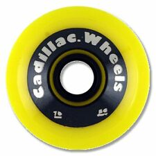 Cadillac CRUZERS Skateboard Wheels 70mm 80a YELLOW w/SILVER TEXT