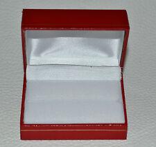 TRAURINGETUI Lederimitat ROT Geschenkbox Ringetui Etui für 2 Ringe Ehering Ring
