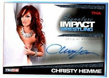 TNA Christy Hemme 2011 Signature Impact Silver Autograph Card SN 10 of 99