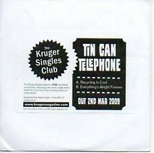 (12D) Tin Can Telephone, Recycling is Cool - DJ CD