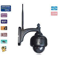 Zoom Pan/Tilt PTZ Wireless WiFi Outdoor IP Camera Android View  IR Audio