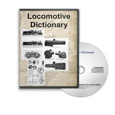 Locomotive Dictionary - 1906 Edition on CD 700 Illustrated Pages Train - D225