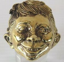Bronze Alfred E. Neuman Ring Custom size mad magazine Iconic collectible R-71b