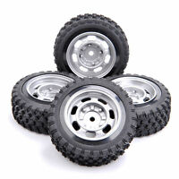 4Pcs Rally Tires&Wheel 12mm Hex For HPI HSP RC 1:10  Scale On Road Racing Car