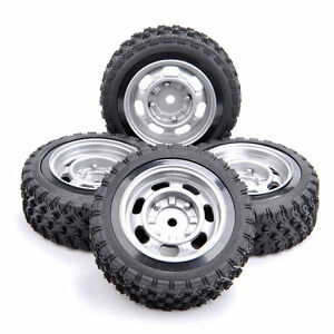 US 4Pcs 12mm Hex For HPI HSP RC 1:10  Scale On Road Racing Car Rally Tires&Wheel