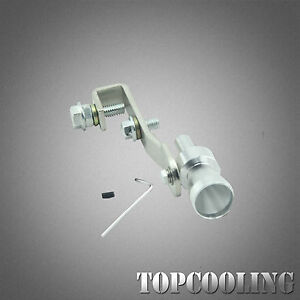 Silver Turbo Sound Whistle Exhaust Muffler Pipe Blow Off Valve Simulator
