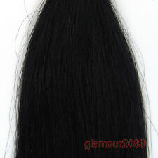 100s U/Nail Fusion Keratin Tip Premium Remy Human Hair Extensions Straight16-26""