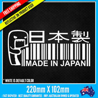 Made In Japan with Domo EVO JDM DRIFT Sticker Vinyl Funny Dope Window Laptop