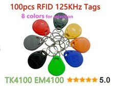 100pcs lot 125Khz RFID Tag Proximity Keyfobs Ring Access Control Card