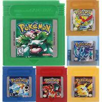 Pokemon For Game Boy Series Nintendo GBC Gold,Silver, Blue, Red, ESP/Eng 16 bit