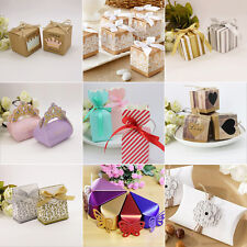 50/100Pcs Hot Sale Heart Wedding Party Favour Sweet Gift Craft Boxes Table Decor