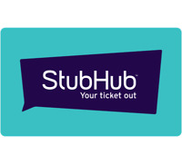 $100 Stub Hub Gift Card Email Delivery Deals
