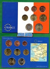 FRANCE. Euro Coins of France UNC Years 1999-2005 Set of 8 values (1c to 2 euros)