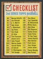 1962 Topps #98 Checklist 89-176 VG/VGEX 20828