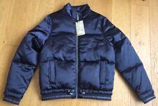 M&S Girls Puffa Padded Bomber Jacket Navy Blue 13-14 Yrs Warm Cosy Coat RRP £40
