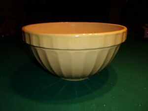 """POTTERY BARN LARGE 12"""" YELLOW BOWL, MADE IN ENGLAND NEW"""