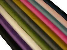 """Plain Extra Soft"" Velvet Designer Fabric Curtain Upholstery Cushion Craft Blind"
