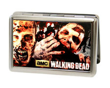 Walking Dead Zombies Eating Metal Multi-Use Wallet Business ID Card Holder New